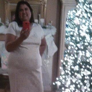 White winter dress